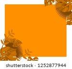 flower frame monstera ufo green ... | Shutterstock .eps vector #1252877944