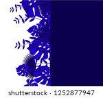 flower frame monstera ufo green ... | Shutterstock .eps vector #1252877947