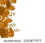 flower frame monstera ufo green ... | Shutterstock .eps vector #1252877977