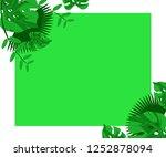 flower frame monstera ufo green ... | Shutterstock .eps vector #1252878094