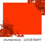 flower frame monstera ufo green ... | Shutterstock .eps vector #1252878097