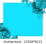flower frame monstera ufo green ... | Shutterstock .eps vector #1252878121
