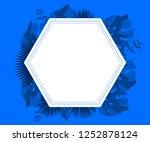 flower frame monstera ufo green ... | Shutterstock .eps vector #1252878124