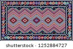 colorful oriental mosaic rug... | Shutterstock . vector #1252884727