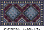 colorful oriental mosaic rug...   Shutterstock . vector #1252884757