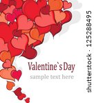 hand drawn hearts on white... | Shutterstock .eps vector #125288495
