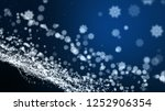 dark blue background  digital...   Shutterstock . vector #1252906354