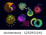 abstract vector background dot... | Shutterstock .eps vector #1252921141