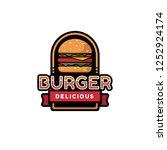 burger logo design   Shutterstock .eps vector #1252924174