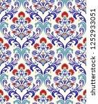 vintage seamless damask pattern.... | Shutterstock .eps vector #1252933051