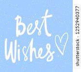 best wishes. sticker for social ... | Shutterstock .eps vector #1252940377