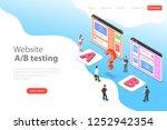 isometric flat landing page...   Shutterstock . vector #1252942354