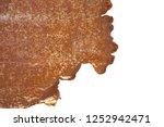 sick beautiful surface of rusty ... | Shutterstock . vector #1252942471