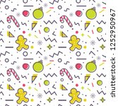 christmas seamless pattern with ... | Shutterstock .eps vector #1252950967