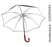 vector umbrella | Shutterstock .eps vector #125295491