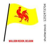 wallonia region  belgium flag... | Shutterstock .eps vector #1252973704