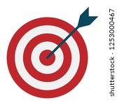 target with arrow  goal achieve ... | Shutterstock .eps vector #1253000467