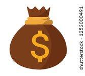 money bag vector icon  moneybag ... | Shutterstock .eps vector #1253000491