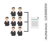 team management organizational...   Shutterstock .eps vector #1253000554