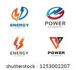 logo design for energy  power ... | Shutterstock .eps vector #1253002207