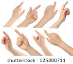woman hands on white background | Shutterstock . vector #125300711