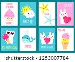 valentine's day banner... | Shutterstock .eps vector #1253007784