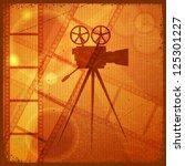 vintage orange background with... | Shutterstock .eps vector #125301227