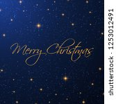 christmas background with a... | Shutterstock .eps vector #1253012491