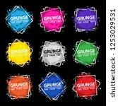 grunge background set. vector... | Shutterstock .eps vector #1253029531