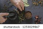 herbal medicine preparation... | Shutterstock . vector #1253029867
