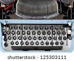 Retro Typewriter Close Up With...