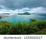 beautiful beach and sea in... | Shutterstock . vector #1253033317