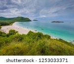 beautiful beach and sea in... | Shutterstock . vector #1253033371