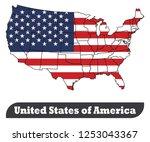 map of usa   vector | Shutterstock .eps vector #1253043367