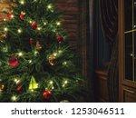 3d rendering christmas interior ... | Shutterstock . vector #1253046511