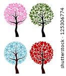 valentines  spring  winter tree ... | Shutterstock . vector #125306774