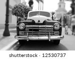 B W View Of A Classic Car...