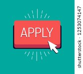 vector 'apply' button with... | Shutterstock .eps vector #1253074147