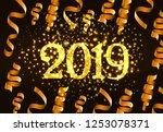 twenty nineteen invitation...   Shutterstock .eps vector #1253078371