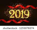 twenty nineteen invitation...   Shutterstock .eps vector #1253078374