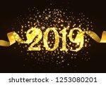 twenty nineteen invitation...   Shutterstock .eps vector #1253080201