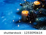 christmas decoration with... | Shutterstock . vector #1253090614