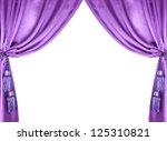 Purple Silk Curtain With...