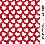 valentine seamless with hearts   Shutterstock .eps vector #125311085
