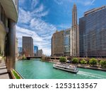 chicago downtown and chicago... | Shutterstock . vector #1253113567