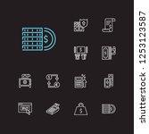 finance icons set. mobile...