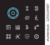 blockchain icons set. stock...