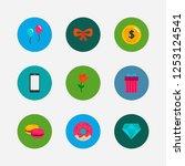 present icons set. macaroons...