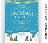 poster for christmas party.... | Shutterstock .eps vector #1253146144
