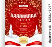poster for christmas party. red ... | Shutterstock .eps vector #1253148097